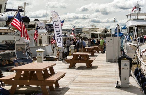 Baltimore Marina dock during TrawlerFest