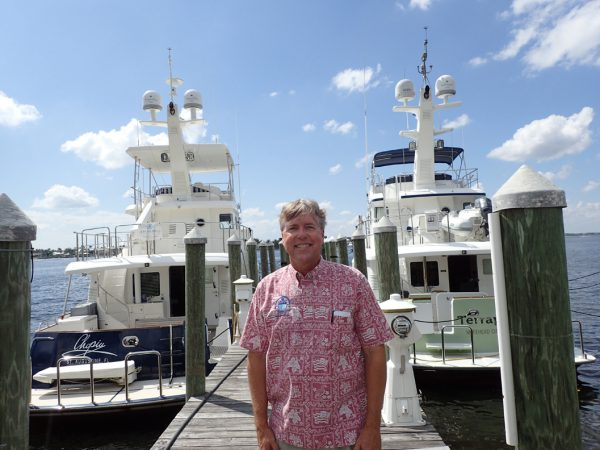 Jeff Merrill on dock