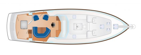 Nordhavn 56 - NordSail One Deck Layout