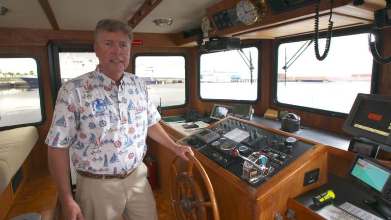 Jeff Merrill in cockpit