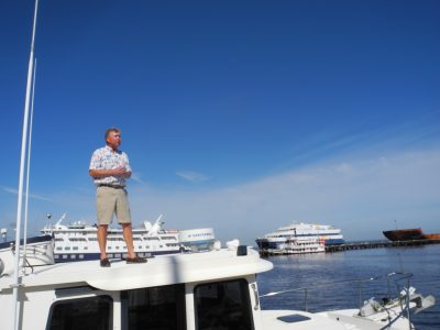 Jeff Merrill on a Yacht