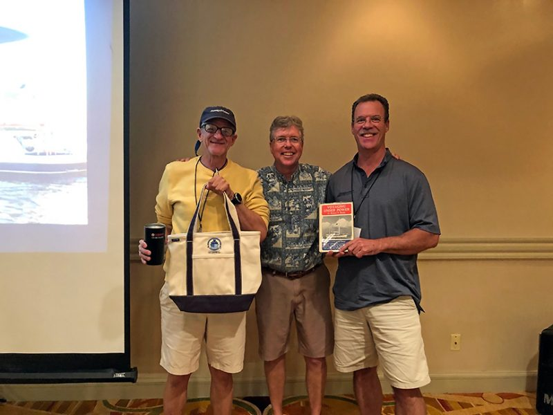 Douglas Livermore won a JMYS bag and Doug Rowe won Voyaging Under Power in a class raffle.