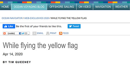 While flying the yellow flag