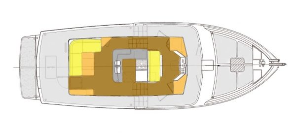 LAYOUT - Main Deck – Saloon, Galley, Pilothouse