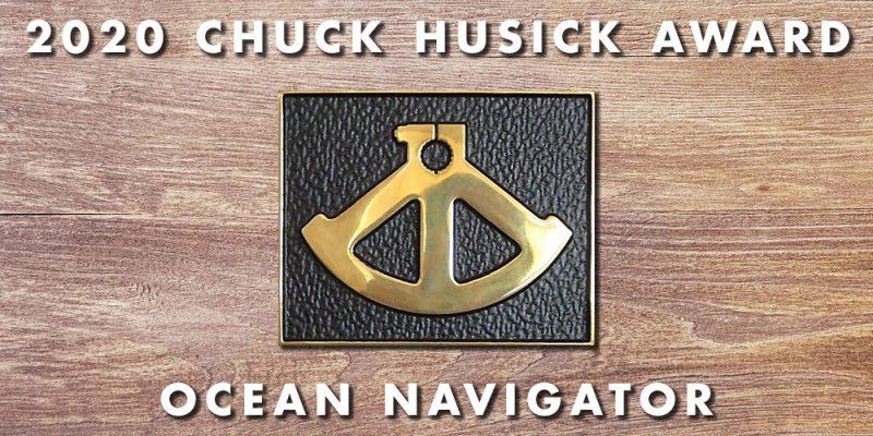 Ocean Navigator logo indicating 2020 chuck husick award