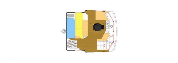 Nordhavn 43 Cayenne Pilothouse Deck