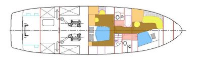 Layout - Lower Deck Staterooms and Heads
