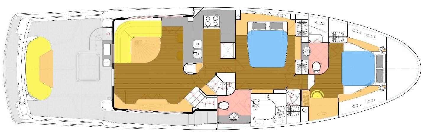 Nordhavn 60 Paradise Found Deck Layout