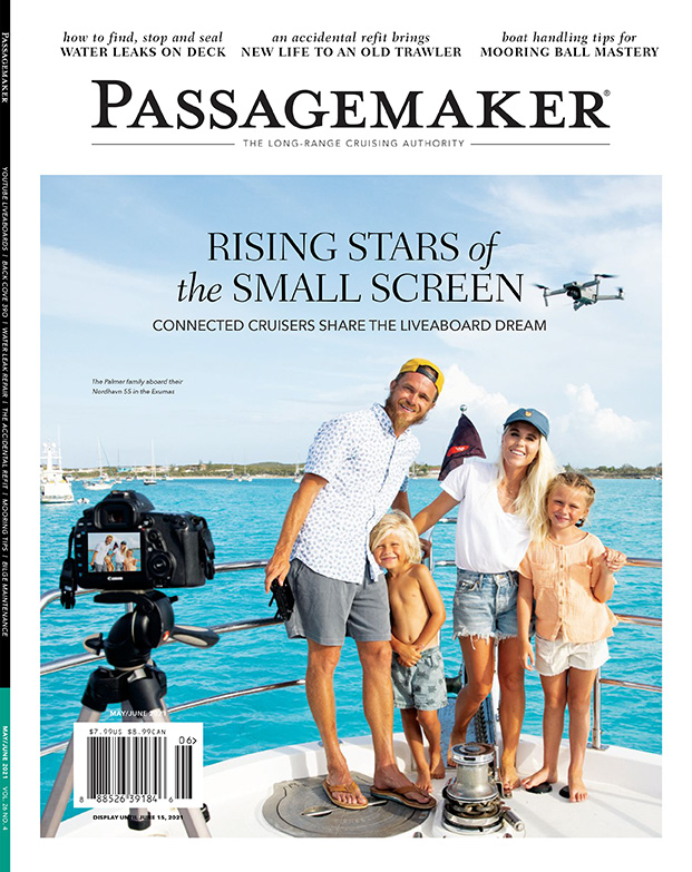"""Passagemaker Magazine – """"Ask the Experts, Sea Trial & Survey"""" cover"""