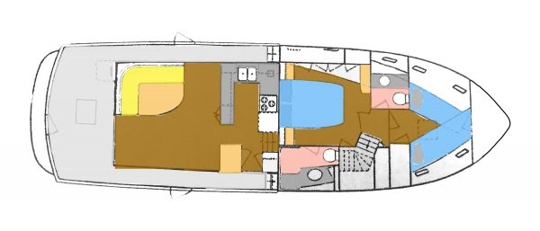 Layout: Saloon / Galley / Staterooms