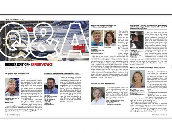 Sea Magazine –Expert Advice with Jeff Merrill